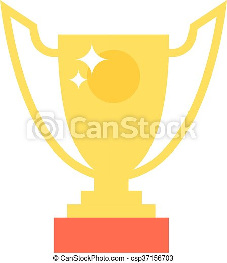 Champion cup vector icon
