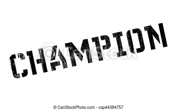 Champion Rubber Stamp Grunge Design With Dust Scratches Clipart