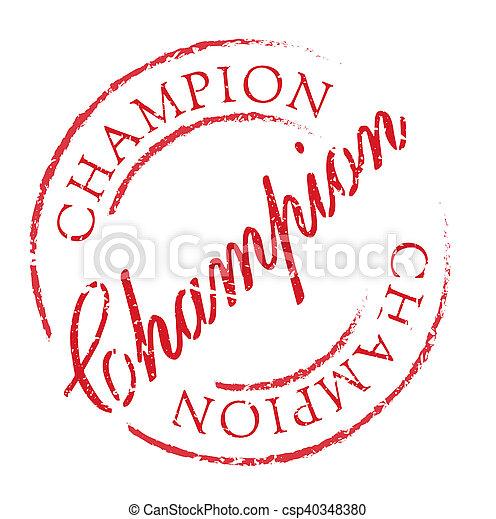 Champion rubber stamp - csp40348380