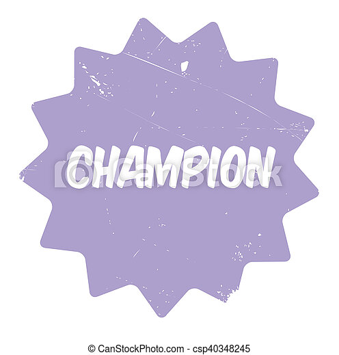 Champion rubber stamp - csp40348245