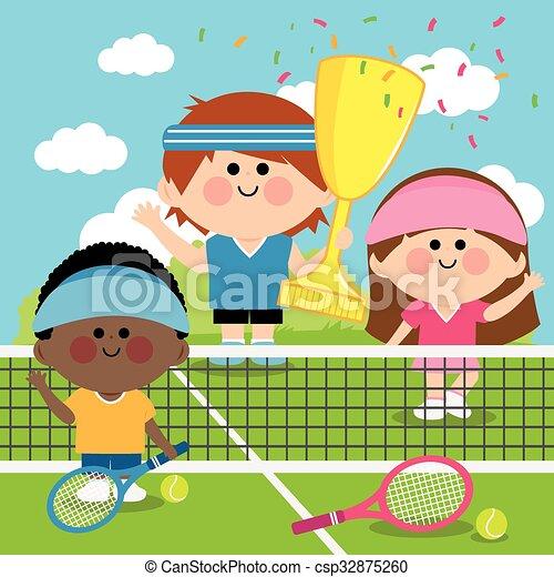 Kids tennis graphics