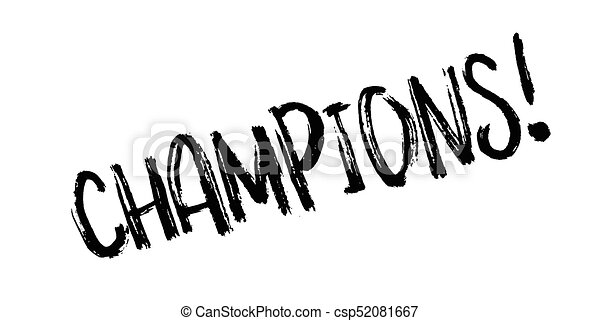 Champions Rubber Stamp Grunge Design With Dust Scratches Clip