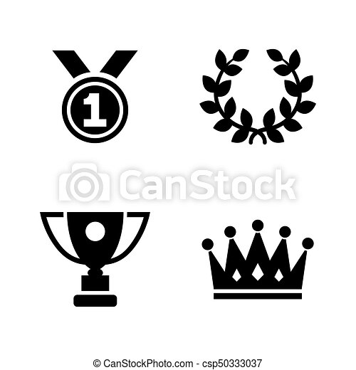 Champions Trophy Simple Related Vector Icons