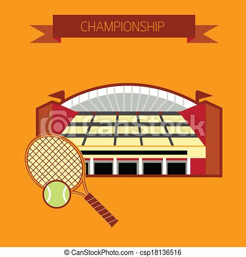Championship tennis stadium - csp18136516