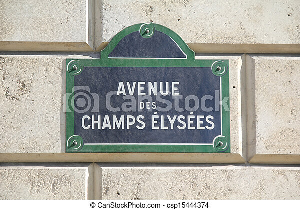 Champs Elysees in Paris, France - csp15444374