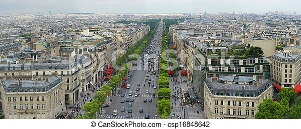 Champs Elysees in Paris France - csp16848642