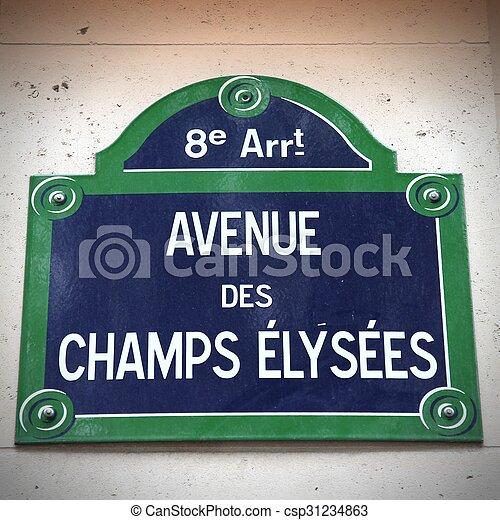 Champs Elysees, Paris - csp31234863