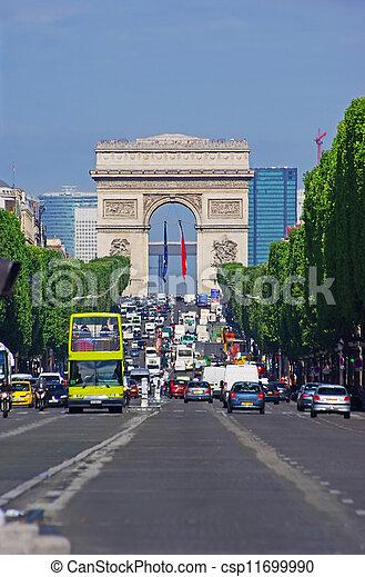 Champs Elysees, Paris - csp11699990