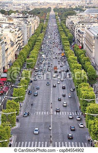 Champs Elysees, Paris - csp84554902