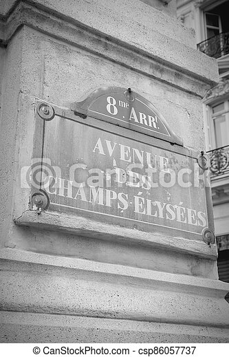 Champs Elysees, Paris - csp86057737