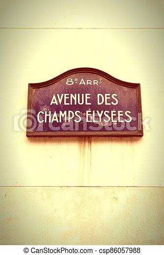 Champs Elysees - csp86057988