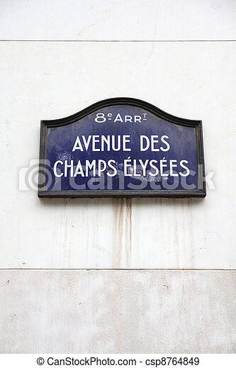 Champs Elysees - csp8764849