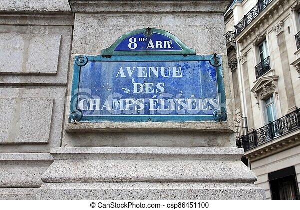 Champs Elysees - csp86451100