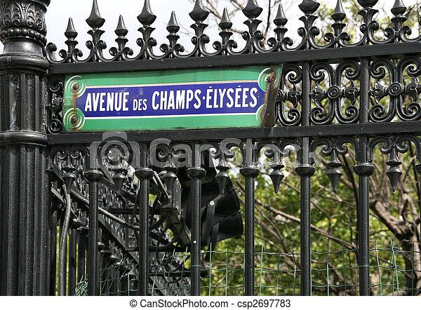 Champs Elysees - csp2697783