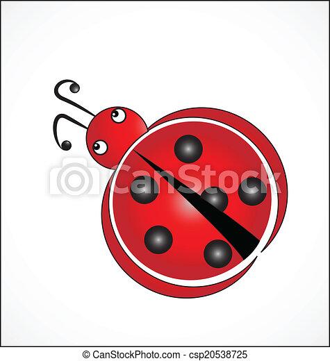 Coccinelle Symbole chance, coccinelle, symbole, bon, logo. vecteur, coccinelle, concept