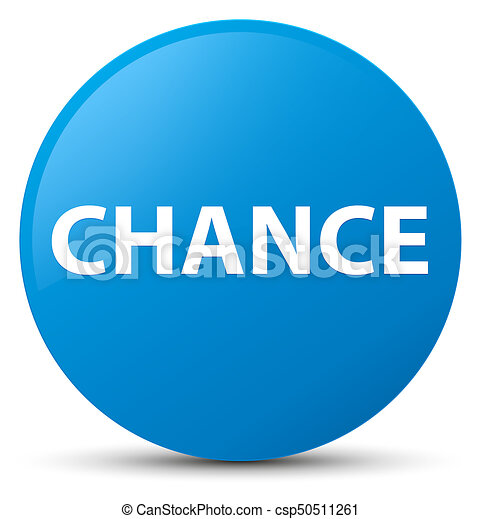 Chance cyan blue round button - csp50511261