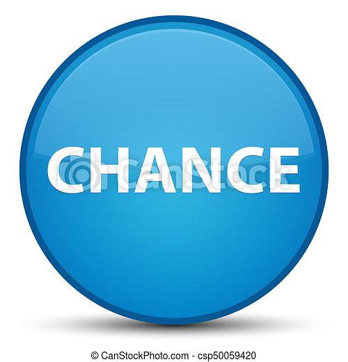 Chance special cyan blue round button - csp50059420