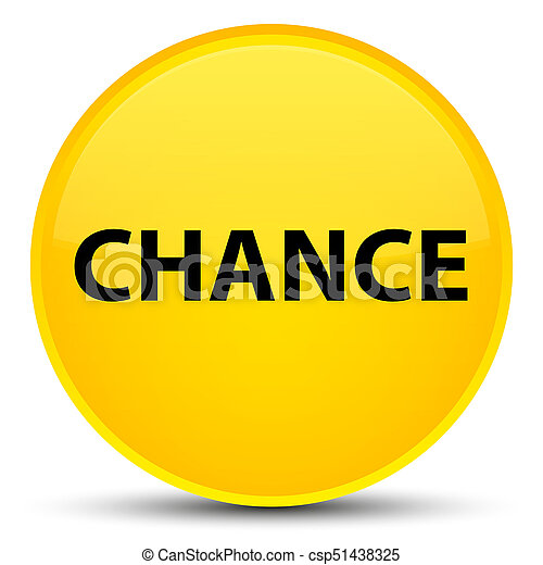 Chance special yellow round button - csp51438325