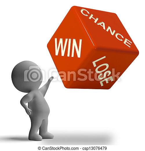 Chance Win Lose Dice Showing Gambling - csp13076479