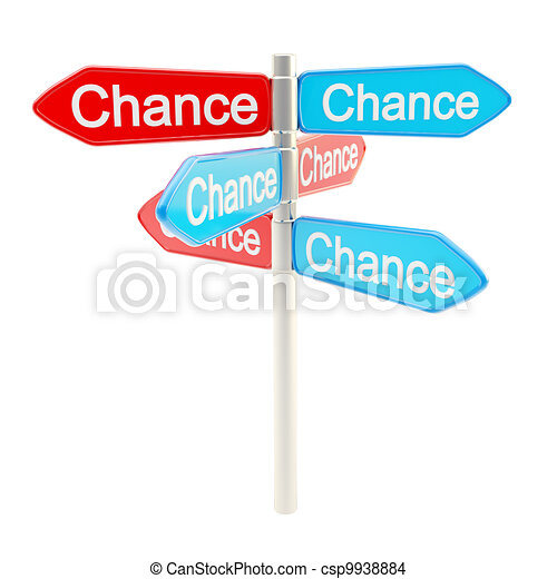Chances are everywhere metaphor as signpost - csp9938884