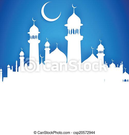 Eid ka chand mubarak (Te desea una luna feliz eid) - csp20572944
