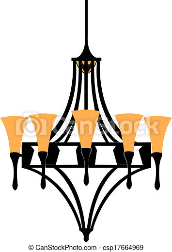 Modern chandelier isolated on white vector illustration clip art chandelier csp17664969 aloadofball Image collections