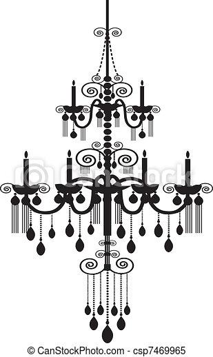 Chandelier pattern clipart vector search illustration drawings chandelier csp7469965 aloadofball Gallery