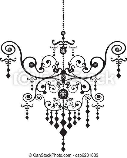 Stock vector illustration black chandelier vectors search clip chandelier csp6201833 mozeypictures Choice Image