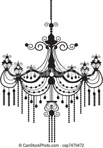 Back chandelier silhouette vector vector illustration search chandelier csp7470472 aloadofball Images