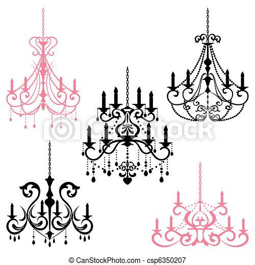 Chandelier illustration vector chandelier csp6350207 aloadofball Image collections