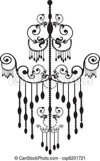 Stock vector illustration black chandelier chandelier csp6201721 aloadofball Image collections