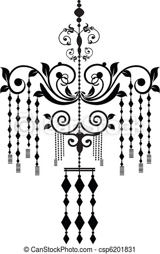 Stock vector illustration black chandelier vector clip art search chandelier csp6201831 aloadofball Image collections