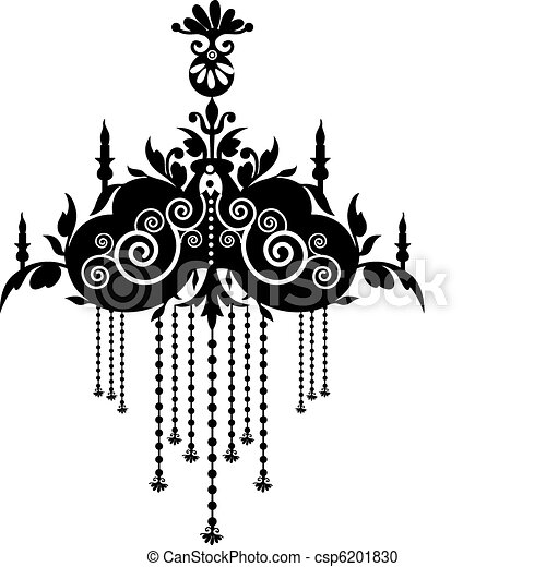 Stock vector illustration black chandelier vector clipart search chandelier csp6201830 aloadofball Image collections