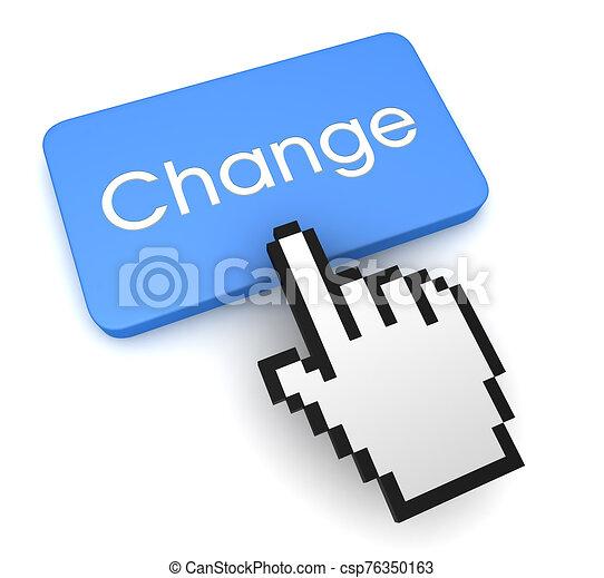 change button concept 3d illustration - csp76350163