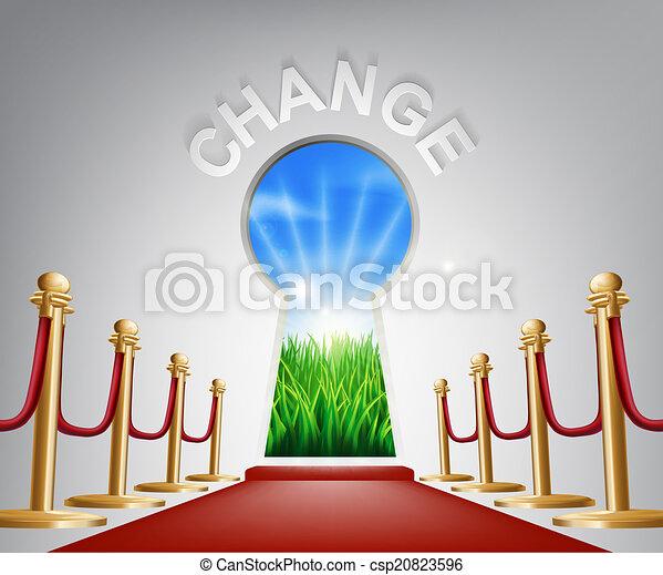 Change conceptual illustration - csp20823596