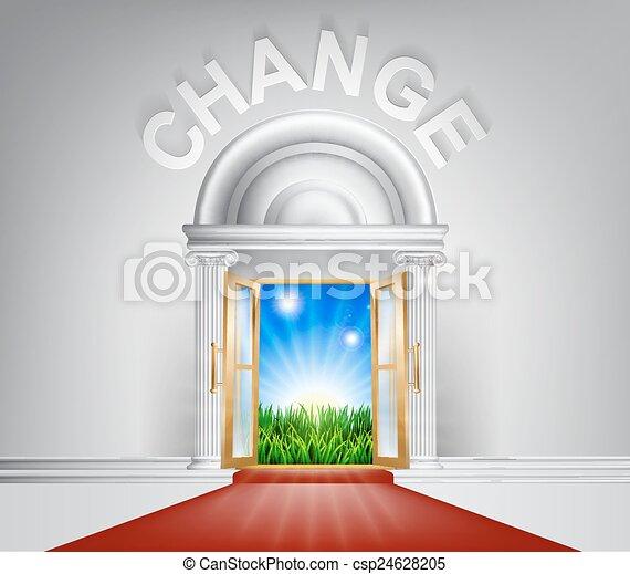 Change Door Concept - csp24628205