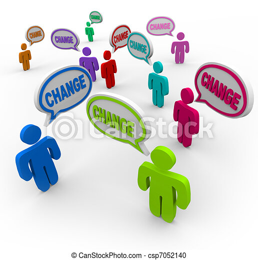 Change is Contagious - People Changing to Succeed in Life - csp7052140