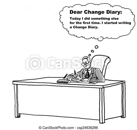 Change Management Diary - csp24636296