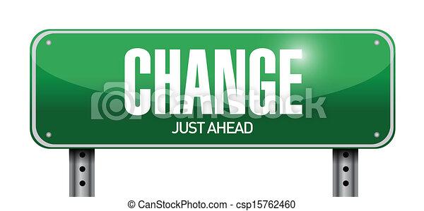 change road sign illustration design - csp15762460