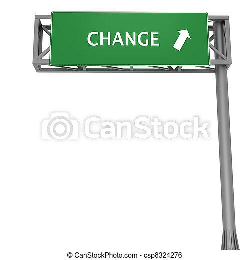 Change signboard - csp8324276
