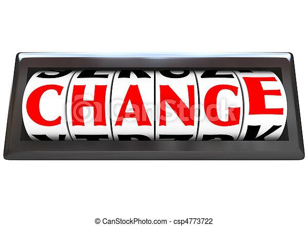 Change Word on Odometer Dials - csp4773722