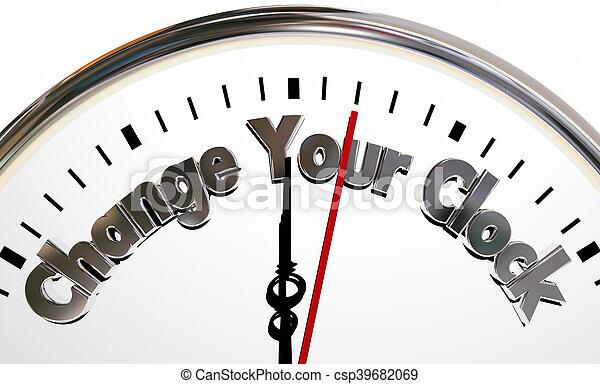 Change Your Clocks Turn Hands Back Forward Time 3d Illustration - csp39682069