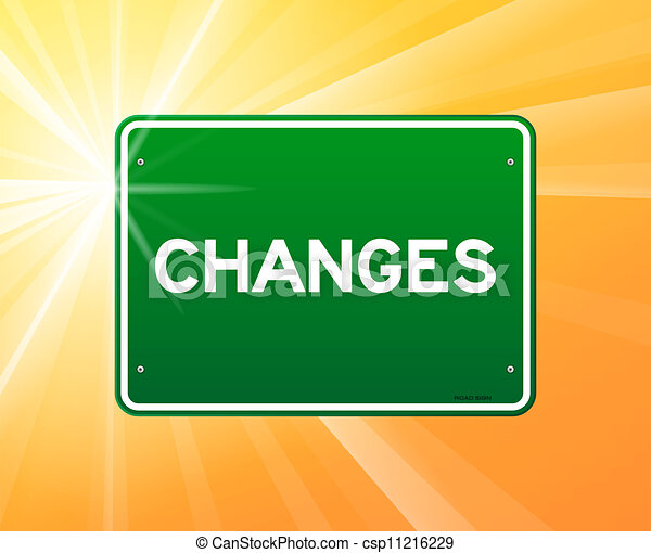 Changes Green Sign - csp11216229
