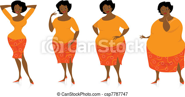 Changes of size after diet - csp7787747
