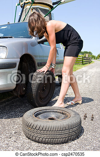 Changing a tire - csp2470535