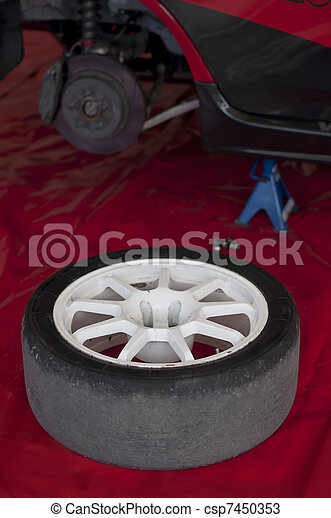 Changing a tire - csp7450353