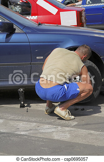 Changing the wheel - csp0695057