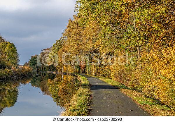 channel et autumn forest - csp23738290