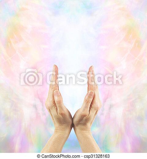 Channeling Angelic Healing Energy  - csp31328163