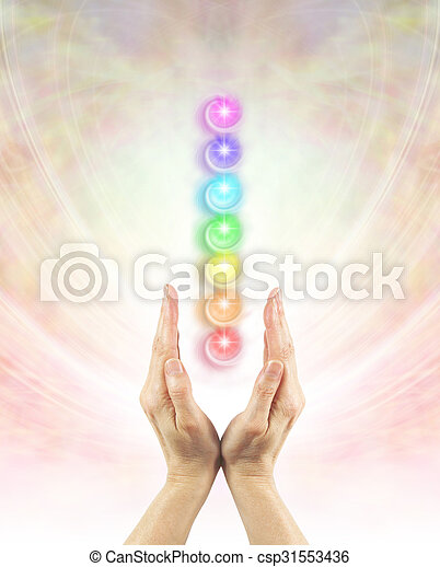 Channeling Chakra Healing Energy - csp31553436